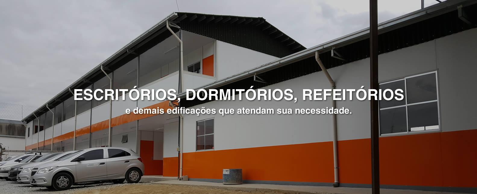 Cerne Construções | Escritório de obra, Construção Provisória, Alojamentos de obras, Galpões Metálicos e Canteiro de madeira de obras.